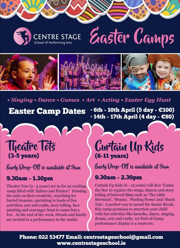 Easter Camps 2020 Available to book now